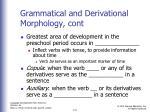 grammatical and derivational morphology cont1