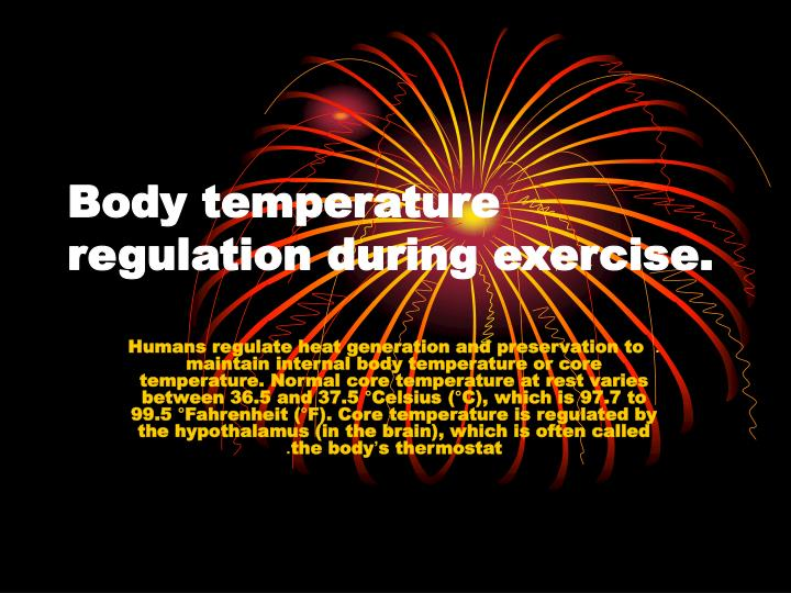 body temperature regulation during exercise n.