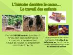 l histoire derri re le cacao le travail des enfants