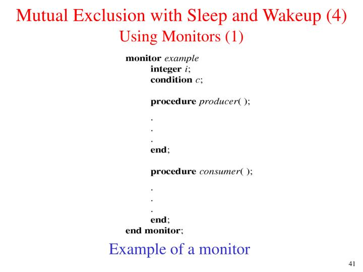 Mutual Exclusion with Sleep and Wakeup (4)