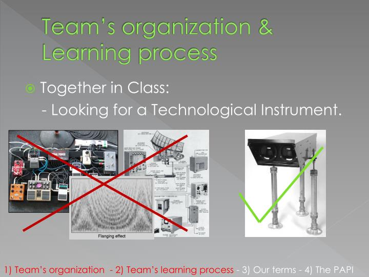 Team s organization learning process