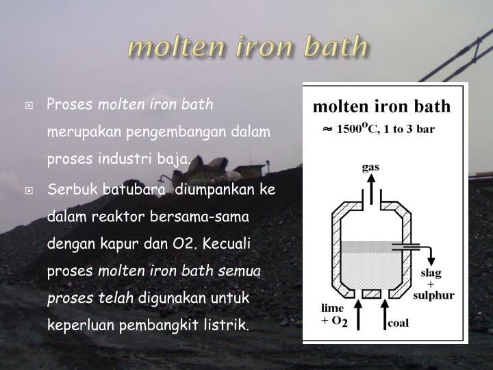 molten iron bath