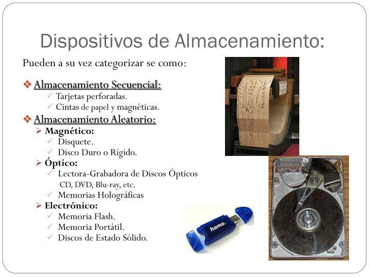 Dispositivos de Almacenamiento: