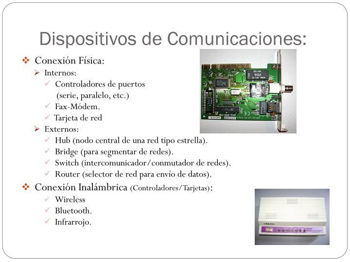Dispositivos de Comunicaciones: