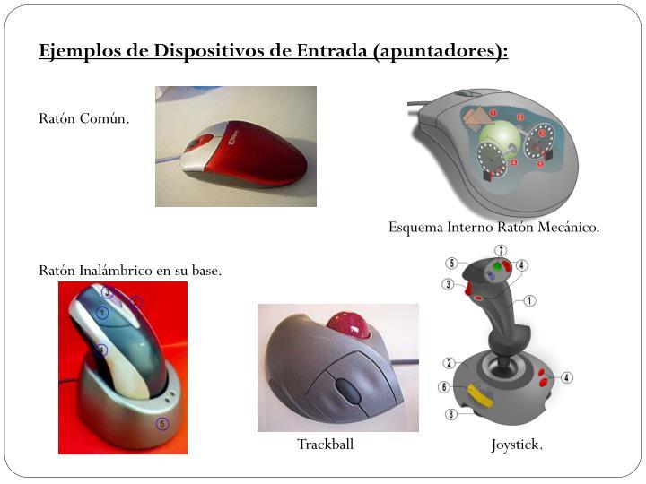 Ejemplos de Dispositivos de Entrada (apuntadores):