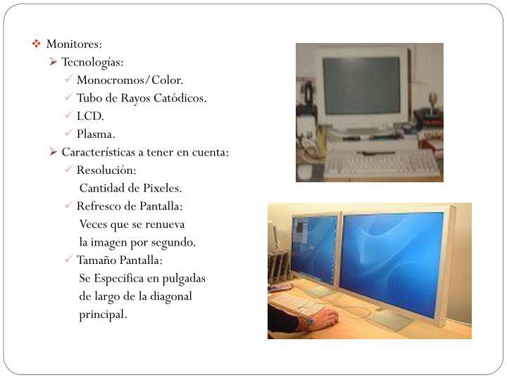 Monitores: