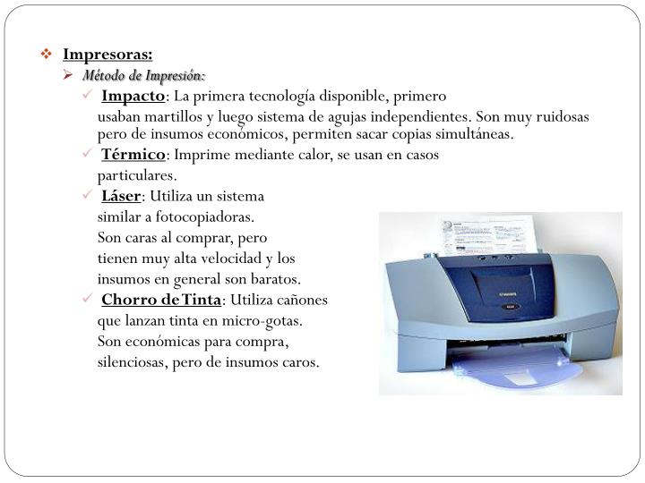 Impresoras: