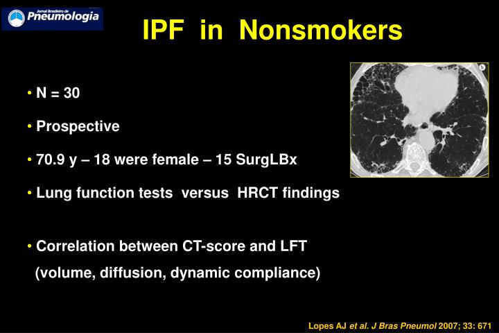 IPF  in  Nonsmokers