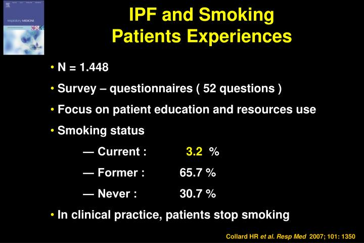 IPF and Smoking