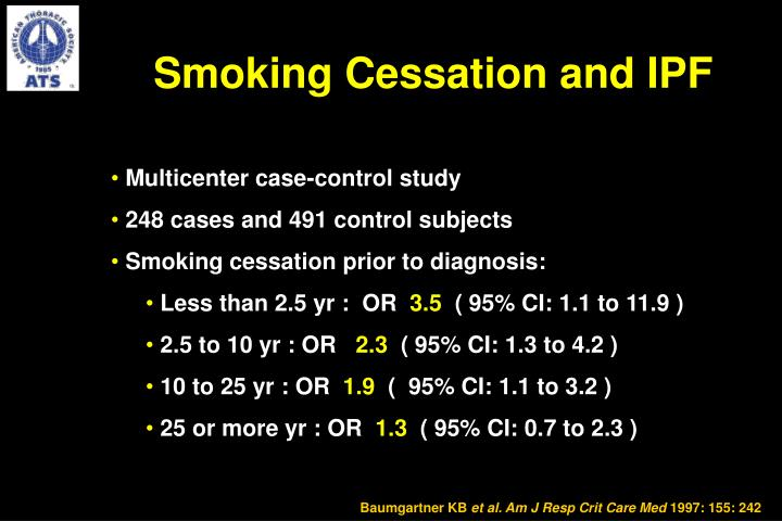 Smoking Cessation and IPF