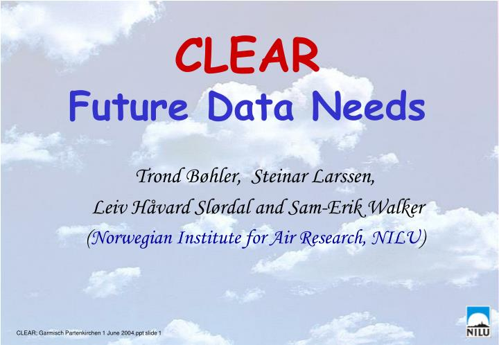 Clear future data needs