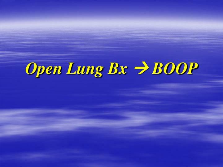 Open Lung Bx
