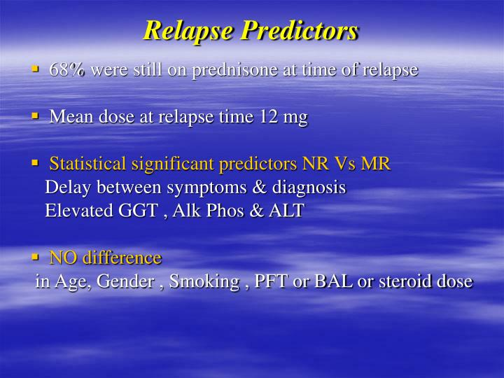 Relapse Predictors