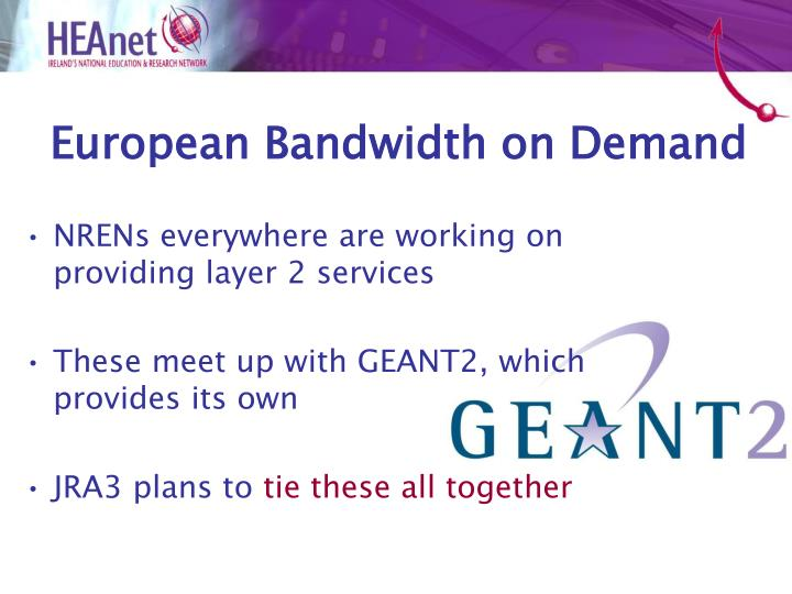 European Bandwidth on Demand