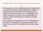 smallholder entrepreneurs and cooperation