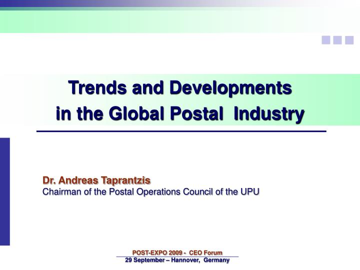 Trends and Developments