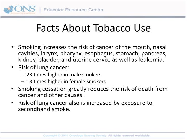 Facts About Tobacco Use