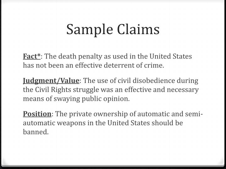 Sample Claims