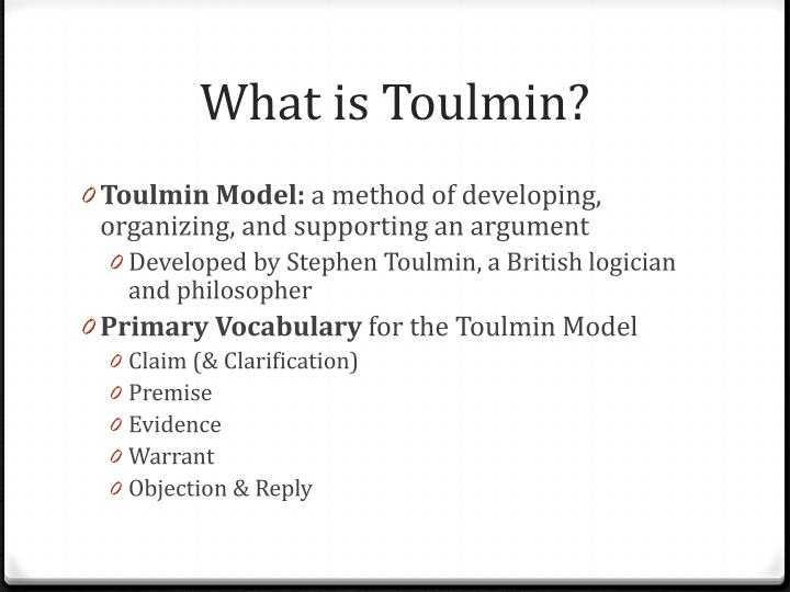 What is Toulmin?