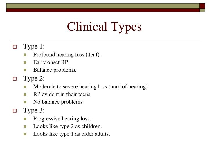 Clinical Types
