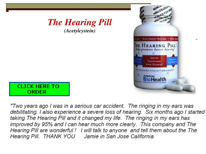 The Hearing Pill
