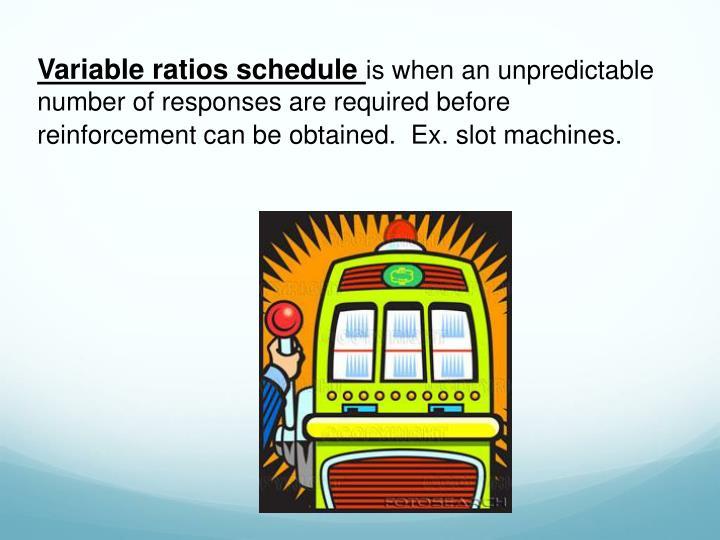 Variable ratios schedule