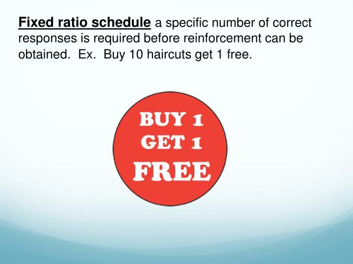 Fixed ratio schedule