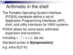 arithmetic in the shell