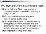 pki bob and alice in a crowded room