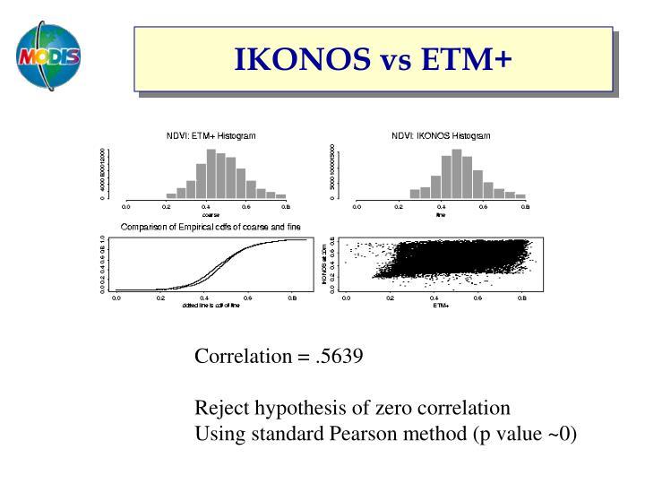 IKONOS vs ETM+