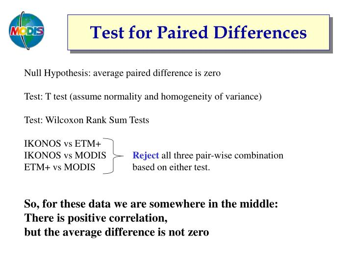Test for Paired Differences