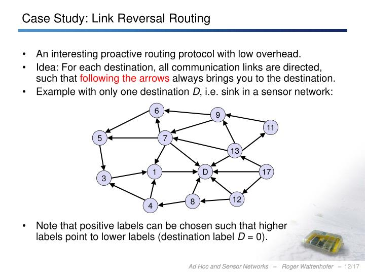Case Study: Link Reversal Routing