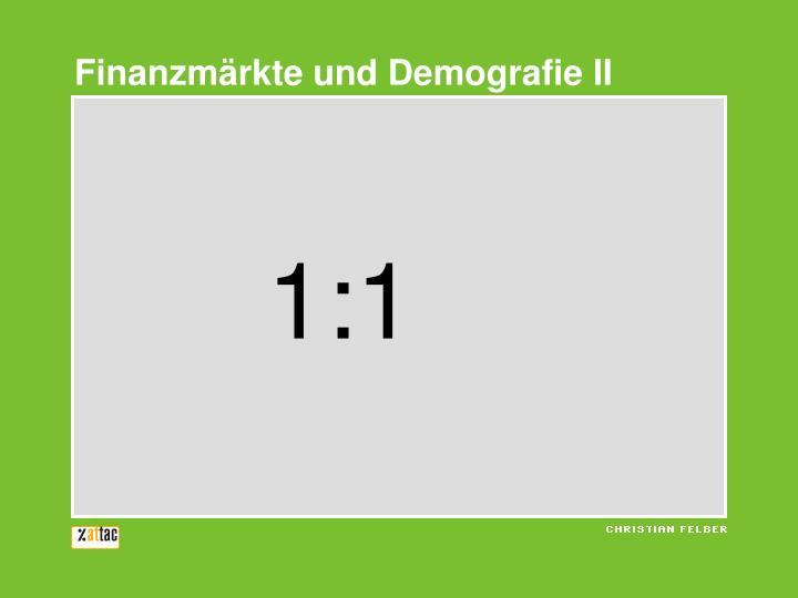 Finanzmärkte und Demografie II