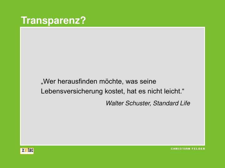 Transparenz?