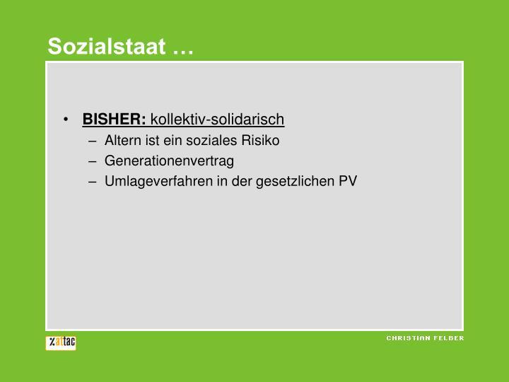 Sozialstaat …