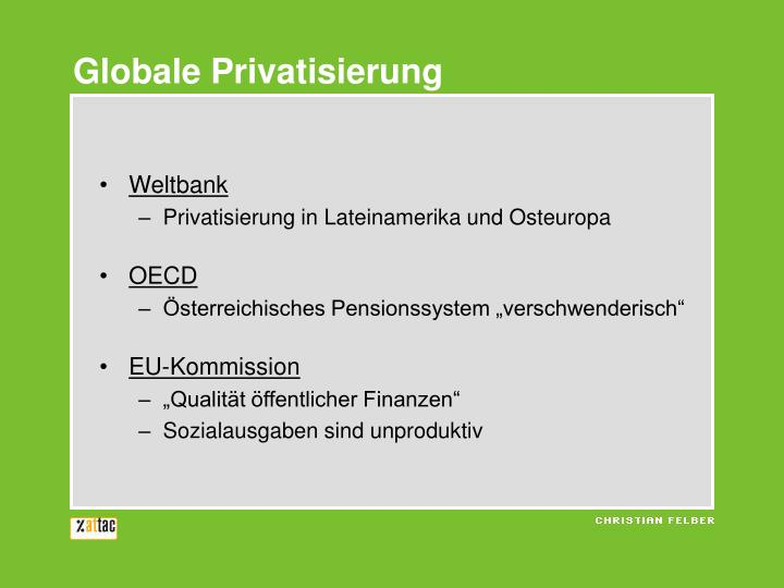 Globale Privatisierung