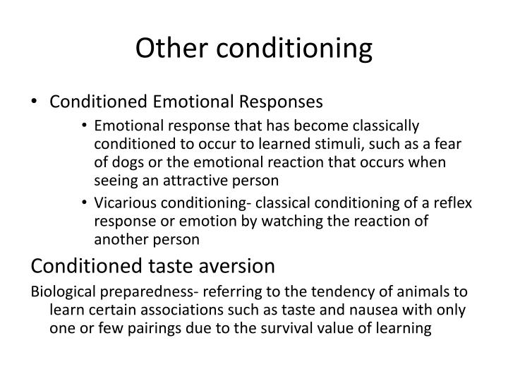 Other conditioning