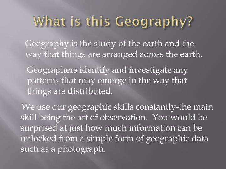 What is this geography