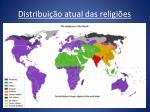 distribui o atual das religi es