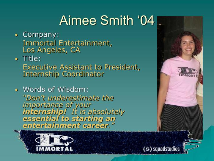 Aimee Smith '04