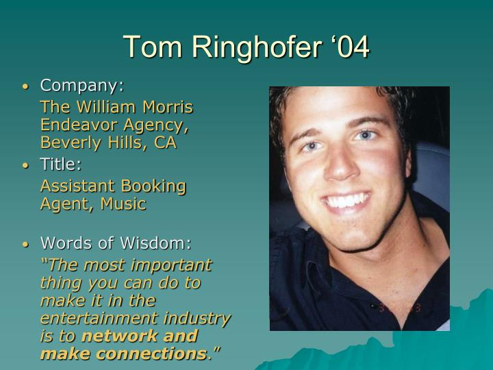 Tom Ringhofer '04