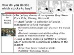 how do you decide which stocks to buy