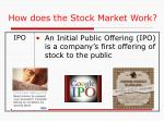 how does the stock market work1