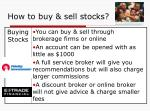 how to buy sell stocks