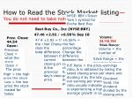 how to read the stock market listing you do not need to take notes on this