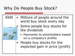 why do people buy stock