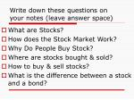 write down these questions on your notes leave answer space