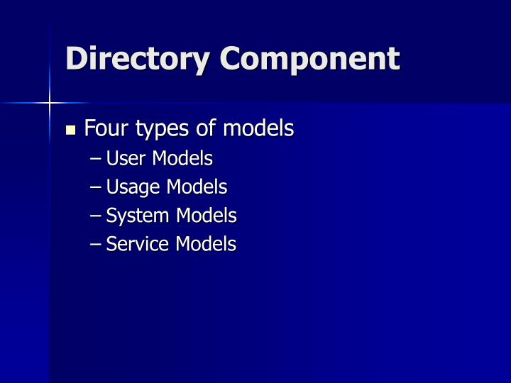 Directory Component