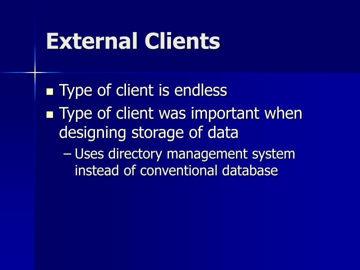 External Clients