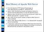 brief history of apache web server